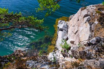 Beautiful Norwegian fjord abyss