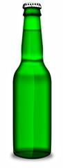 Bier, Bierflasche grün, freigestellt
