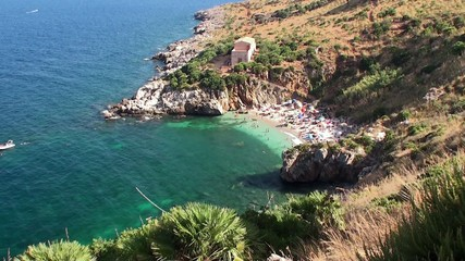 Sicilian Coast at Zingaro Nature reserve. Italy.