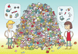 Find Objects Visual Game. Solution in hidden layer!