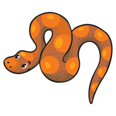 Children vector illustration of snake.