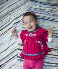 Little toddler smiling