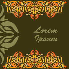 Ornamental lace pattern for greeting cards.