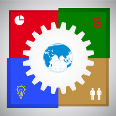 Business Concept cooperation