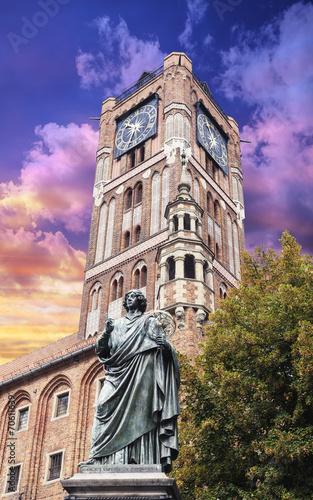 Sculpture of Nicolaus Copernicus in Torun, Poland. - 70611639