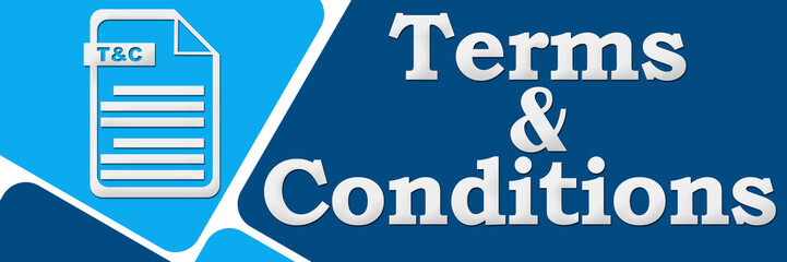 Terms and Conditions Blue Squares