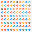 Multimedia icons set for web and mobile in circles - 70612216