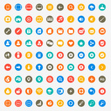 Multimedia icons set for web and mobile in circles poster
