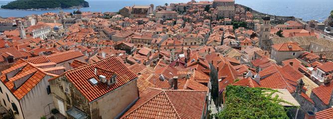 Panoramique de la ville de Dubrovnik en Croatie