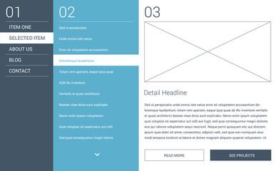 Modern minimal website layout - webdesign template