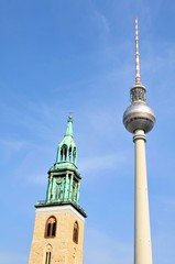 Old and modern architecture in Berlin, Germany
