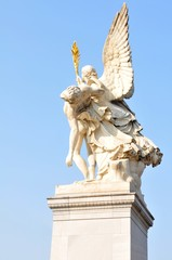 Detail of angel statue in Berlin, Germany