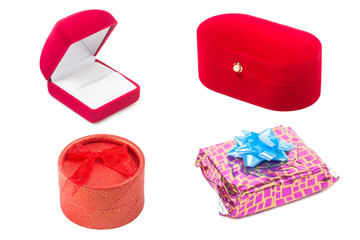 Collection of gift box, Isolated