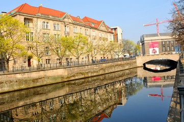 Architecture reflections in Berlin, Germany