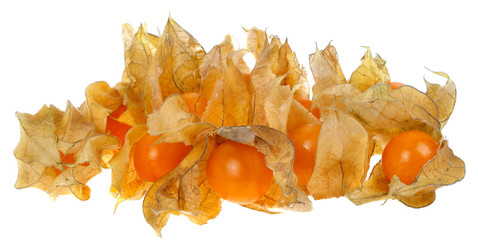 Delicious yellow tropical physalis fruit