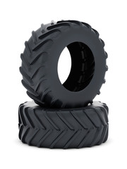 Tractor tires isolated