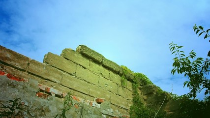 Old wall under the sky.
