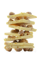 Stack of white chocolate