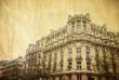Vintage antique city building in paris