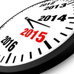 2015 New Year clock
