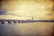 Vintage stony bridge in Bordeaux