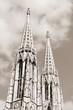 Vienna Votive Church - sepia tone monochrome image