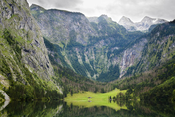 Obersee lake in Bavaria Alps Germany