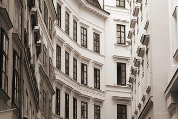 Vienna Old Town - sepia tone monochrome image