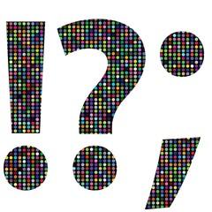 multicolor question mark