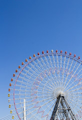 The highest Tempozan Gaint Ferris Wheel (Daikanransha) in the cl