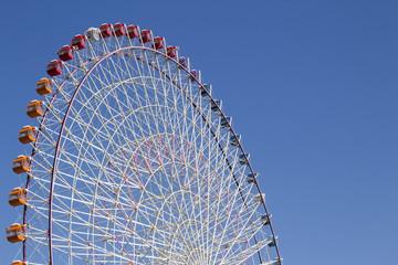 The highest Tempozan Gaint Ferris Wheel (Daikanransha) in the cl