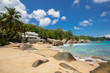 Leinwanddruck Bild - Unspoiled tropical beach in Sri Lanka.