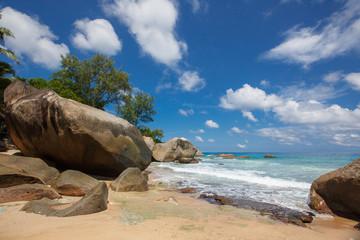 Unspoiled tropical beach in Sri Lanka.