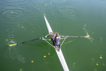 The woman rower