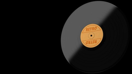 seamless VJ loop of retro vinyl with alpha channel video format