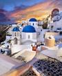 Leinwanddruck Bild - Grèce Santorin Village de Oia