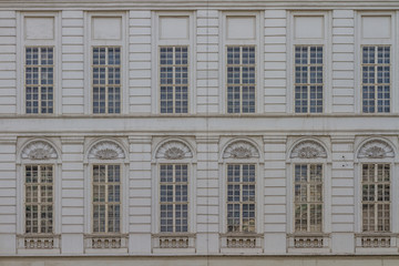house facade pattern with windows