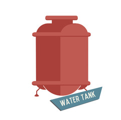 Water tank symbol on white background,Retro colour