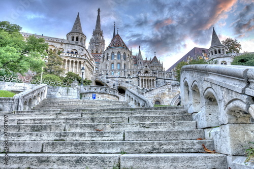 Foto op Aluminium Artistiek mon. Fisherman's Bastion, Budapest, Hungary