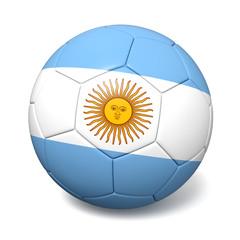 Soccer footbal ball with Argentina flag