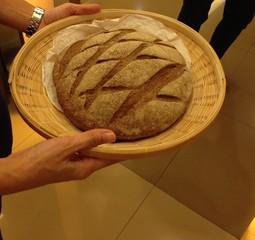 Bread in Bamboo Basket