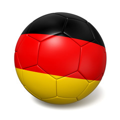Soccer footbal ball with Germany flag