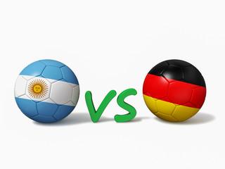 Argentina vs Germany soccer football match concept