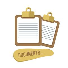 Document concept design,retro design on white background