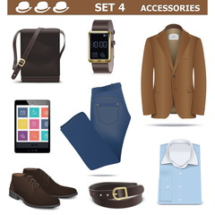 Vector Male Accessories Set 4