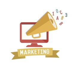 Marketing concept design,retro design on white background