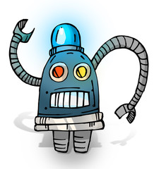 Police cartoon robot