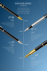 Business design template, infographic and website