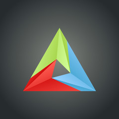 Triangle design template - business media sign
