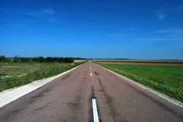 Route droite européenne